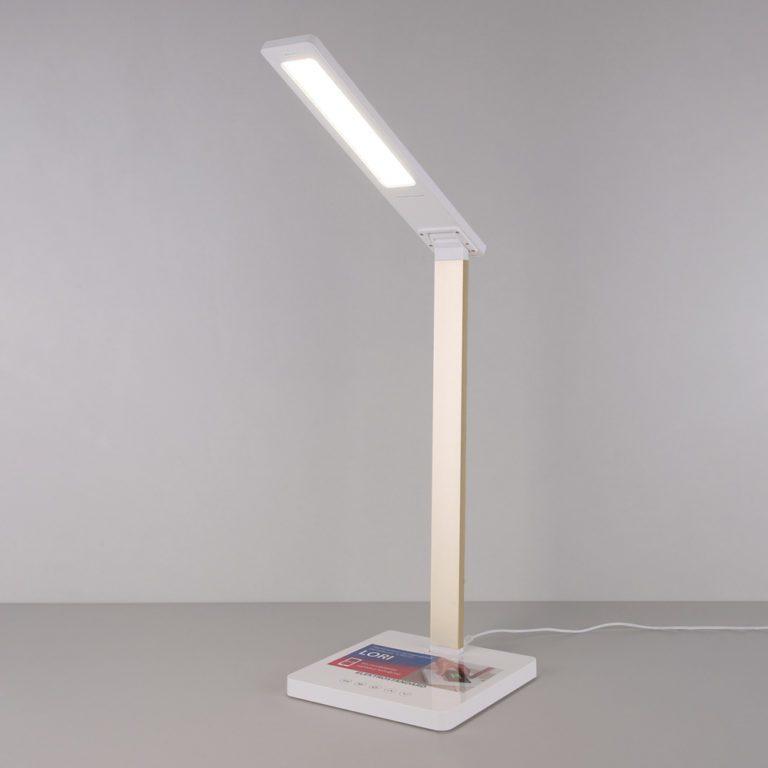 Настольный светодиодный светильник Lori белый/золотой TL90510