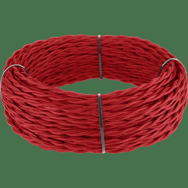 Ретро кабель витой 3х1,5 (красный) 50 м под заказ Ретро кабель витой  3х1,5  (красный)