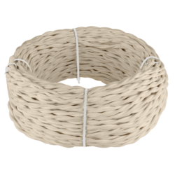 Ретро кабель витой 2х2,5 (песочный) 20 м (под заказ) Ретро кабель витой  2х2,5  (песочный) 20м
