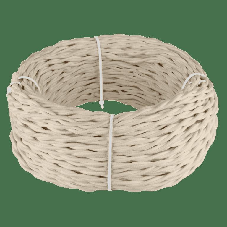 Ретро кабель витой 3х1,5 (песочный) 20 м (под заказ) Ретро кабель витой  3х1,5  (песочный) 20м