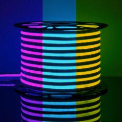 Светодиодный гибкий неон LS001 220V 12W 80Led 5050 IP67 односторонний RGB