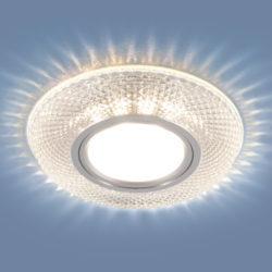 Встраиваемый точечный светильник со светодиодной подсветкой 2238 MR16 CL прозрачный