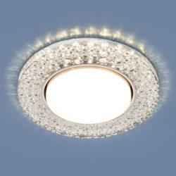 Встраиваемый точечный светильник с LED подсветкой 3029 GX53 CL прозрачный
