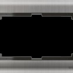Рамка для двойной розетки (глянцевый никель) WL02-Frame-01-DBL