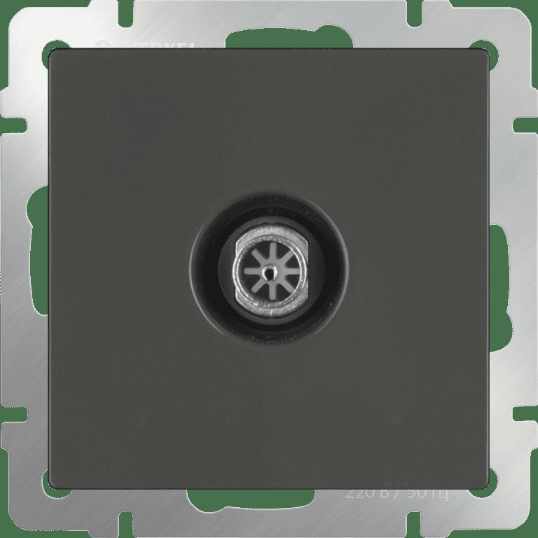 ТВ-розетка проходная  (серо-коричневый) WL07-TV-2W