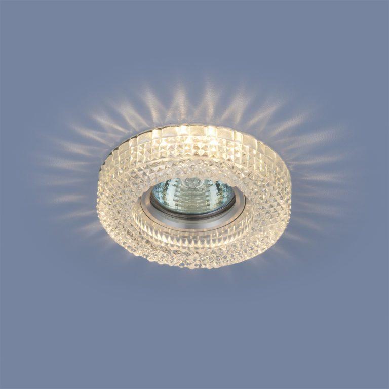 Встраиваемый точечный светильник с LED подсветкой 2213 MR16 CL прозрачный