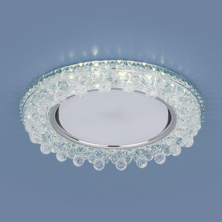 Встраиваемый точечный светильник с LED подсветкой 3025 GX53 CL прозрачный
