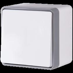 Выключатель одноклавишный влагозащищенный Gallant (белый) WL15-01-02