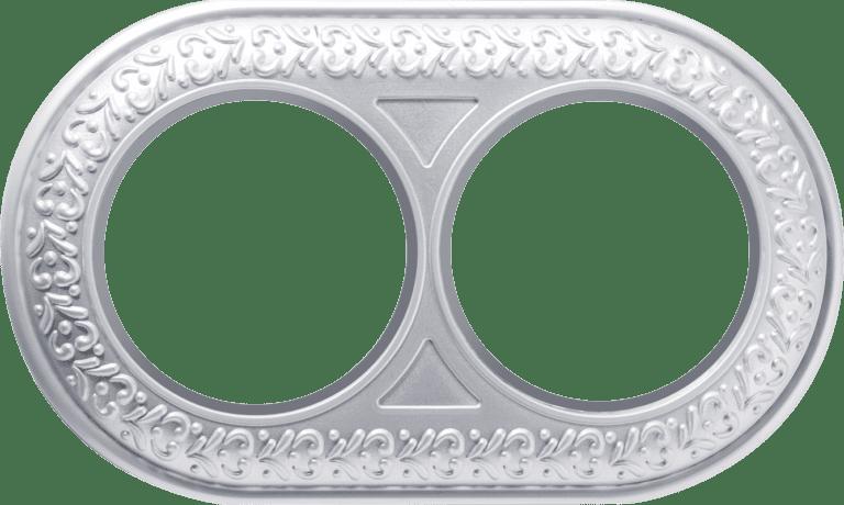 Рамка на 2 поста (жемчужный) WL70-frame-02