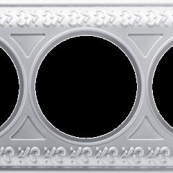 Рамка на 3 поста (жемчужный) WL70-frame-03