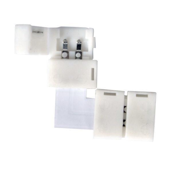 Угловой коннектор для одноцветной светодиодной ленты 3528, 2835 (10 шт.) LED 1L