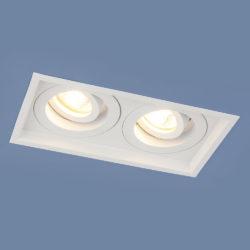 Алюминиевый точечный светильник 1071/2 MR16 WH белый