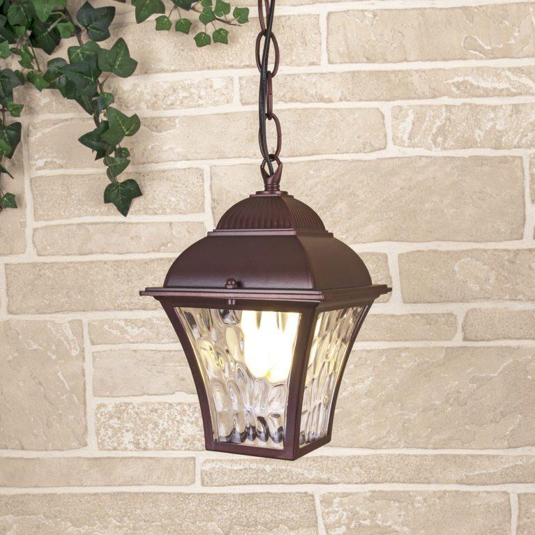 Apus H шоколад уличный подвесной светильник IP33 GL 1009H
