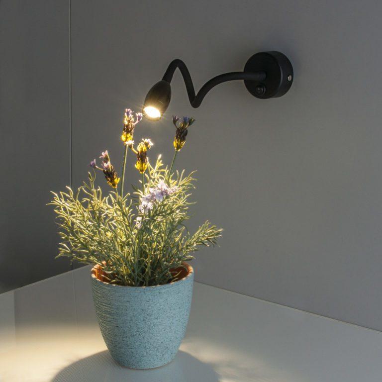 BAND LED  черный Светодиодный светильник с гибким основанием MRL LED 1020