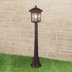 Corvus F капучино уличный светильник на столбе IP44 GL 1021F