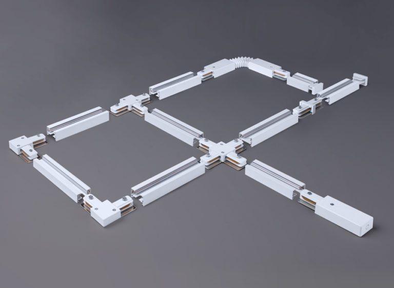 Гибкий коннектор для однофазного шинопровода белый TRC-1-1-FLEX-WH
