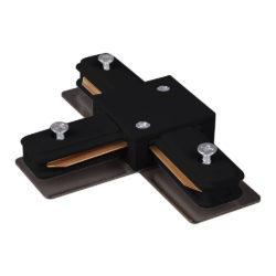 Коннектор Т-образный для однофазного шинопровода черный TRC-1-1-T-BK