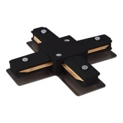 Коннектор X-образный для однофазного шинопровода черный TRC-1-1-X-BK