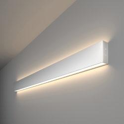 Линейный светодиодный накладной двусторонний светильник 103см 40Вт 4200К матовое серебро 101-100-40-103