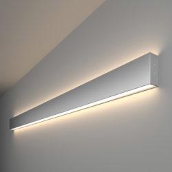 Линейный светодиодный накладной двусторонний светильник 128см 50Вт 4200К матовое серебро 101-100-40-128