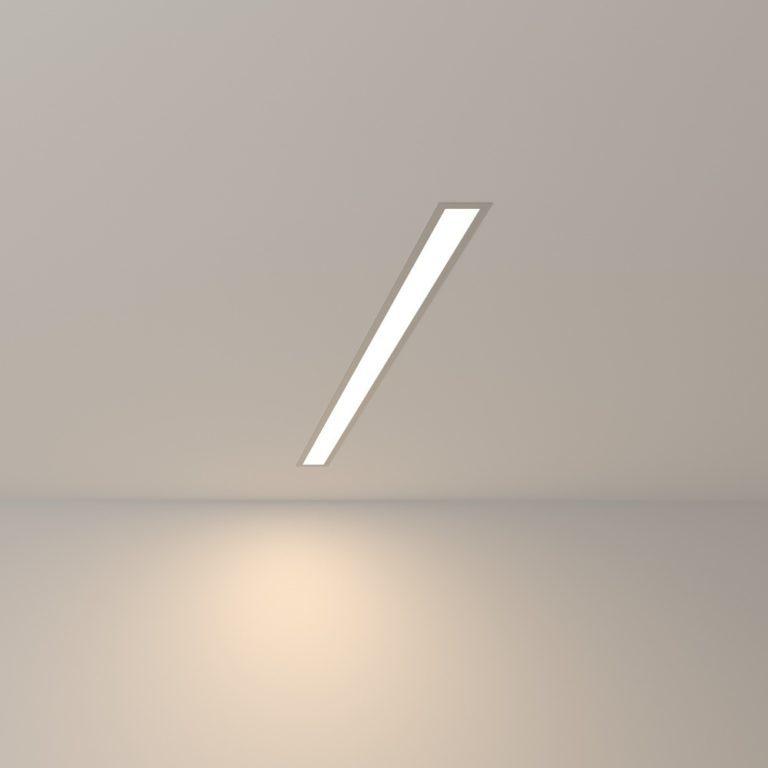 Линейный светодиодный встраиваемый светильник 78см 15Вт 4200К матовое серебро 101-300-78