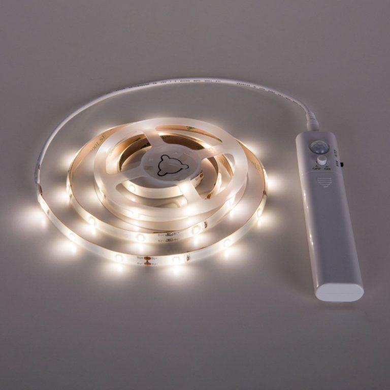 Набор светодиодной подсветки 1 м 2.4 Вт/м 30 LED 2835 IP65 с датчиком движения SLS 01 CW IP 65