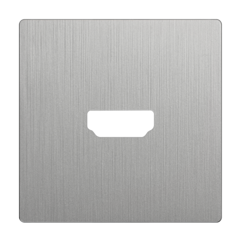 Накладка для розетки HDMI (серебряный рифленый) WL09-HDMI-CP
