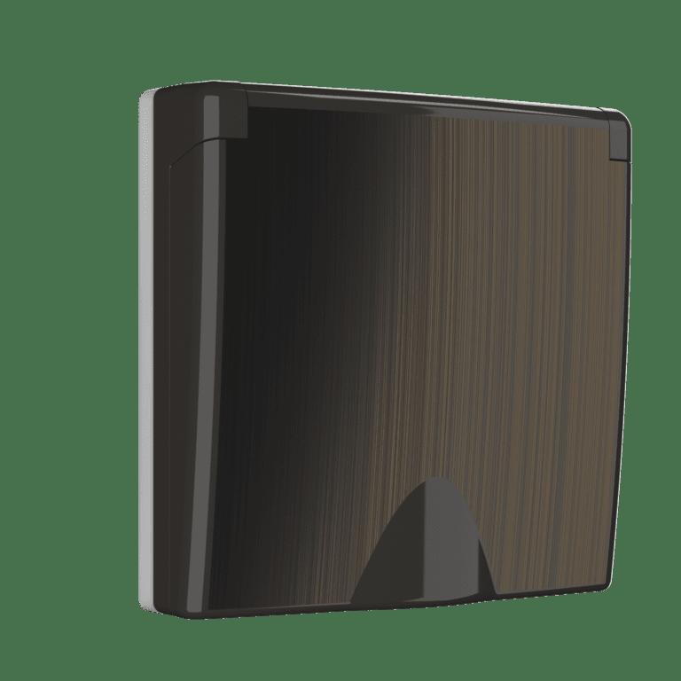 Накладка для розетки IP44 с крышкой (бронзовый) WL12-SKGSC-IP44-CP