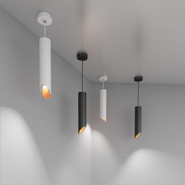 подвесной светильник 7011 MR16 черный/золото