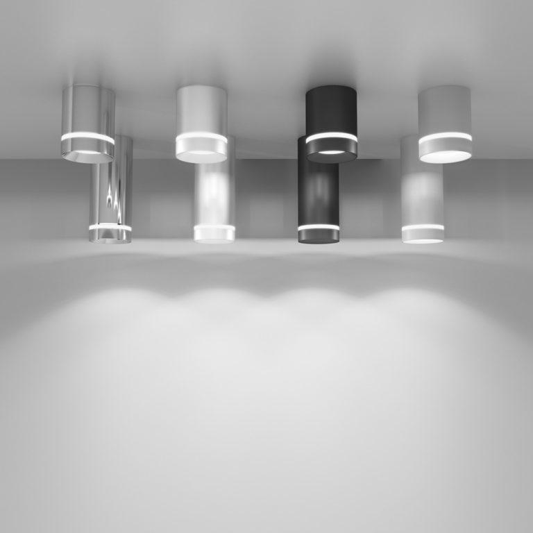 Накладной потолочный светодиодный светильник DLR021 9W 4200K белый матовый