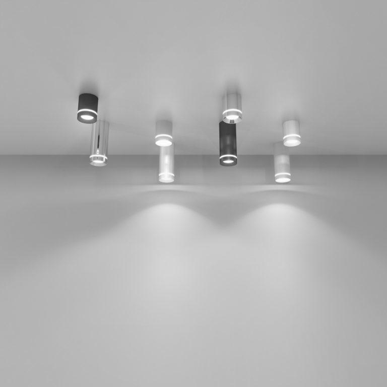 Накладной потолочный  светодиодный светильник DLR021 9W 4200K хром матовый