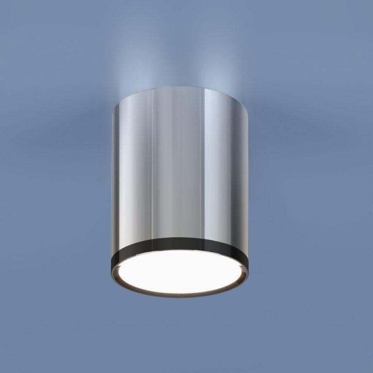 Накладной потолочный  светодиодный светильник DLR024 6W 4200K хром/черный хром