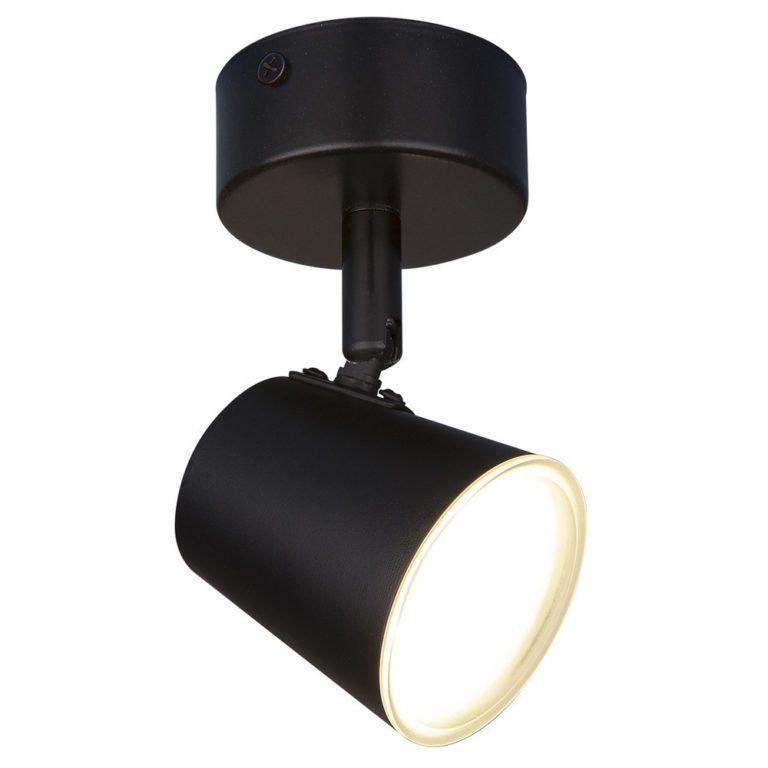 Светодиодный настенный светильник с поворотным плафоном DLR025 черный матовый
