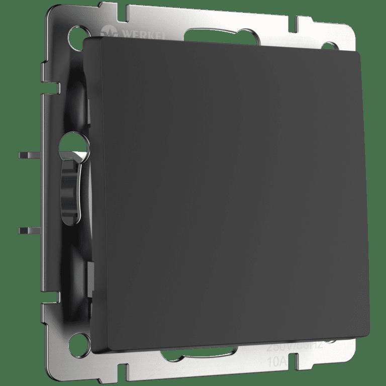 Перекрестный переключатель одноклавишный (черный матовый) WL08-SW-1G-C