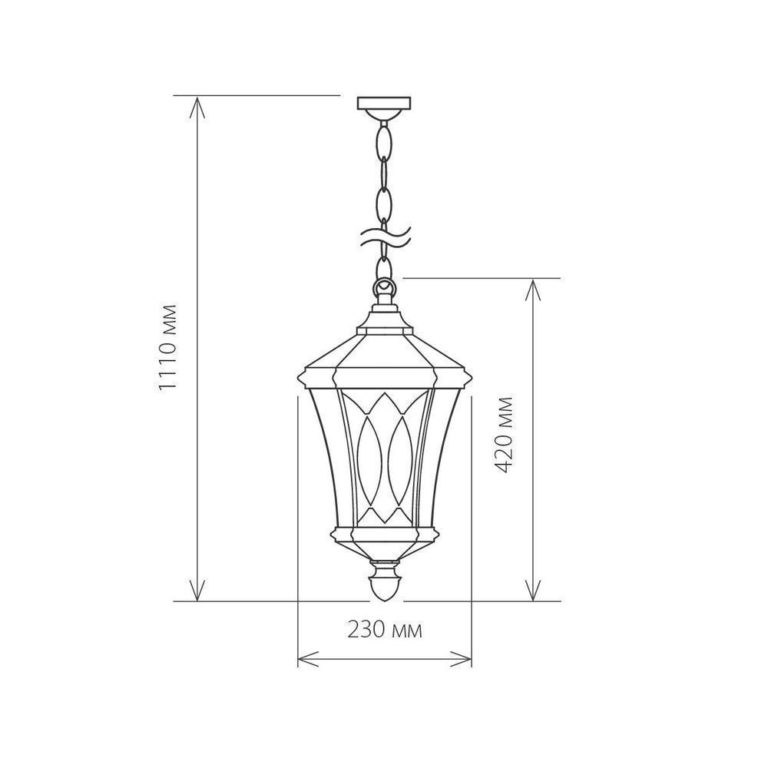 Virgo H черное золото уличный подвесной светильник IP44 GLXT-1450H