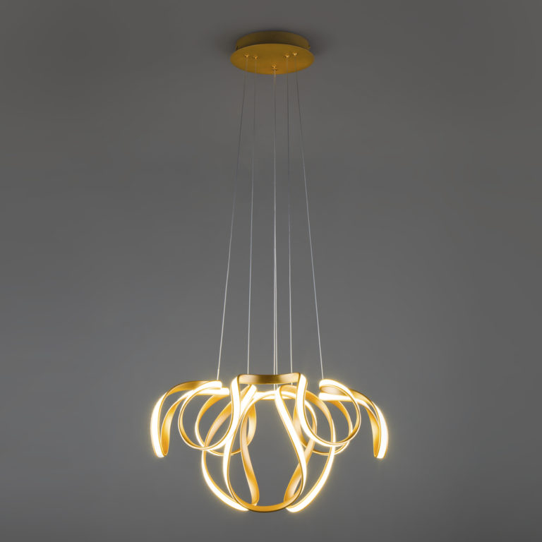 Подвесной светодиодный светильник 90138/2 золото
