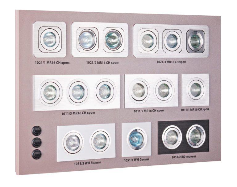 Секция сборного стенда для карданных светильников a036162
