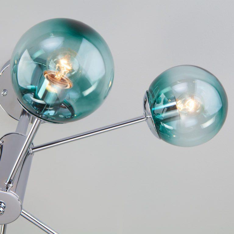 Потолочная люстра со стеклянными плафонами 30166/6 хром