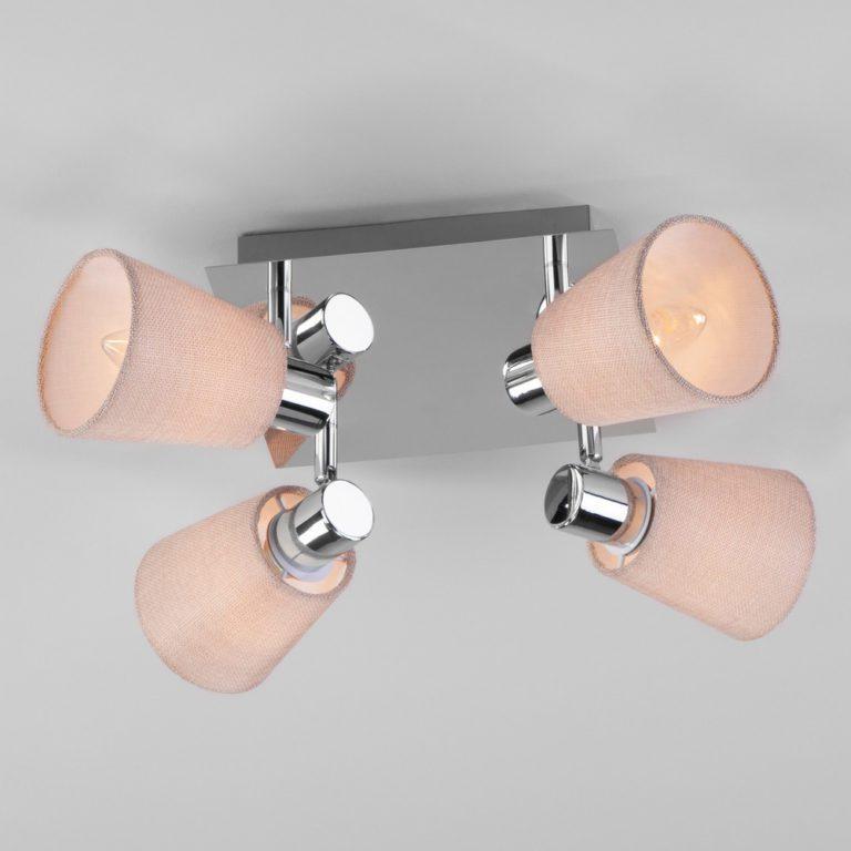 Потолочный светильник с поворотными абажурами 20080/4 хром/бежевый