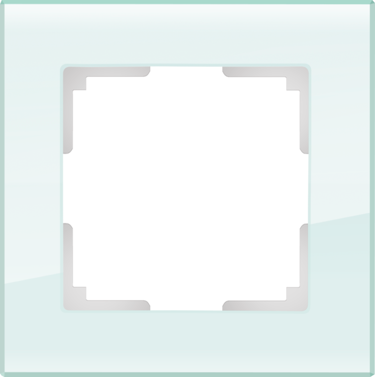 Рамка на 1 пост (натуральное стекло) WL01-Frame-01