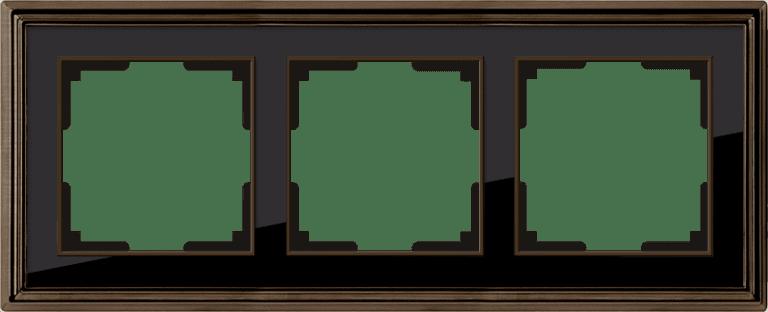Рамка на 3 поста (бронза/черный) WL17-Frame-03