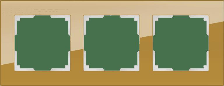 Рамка на 3 поста (бронзовый) WL01-Frame-03