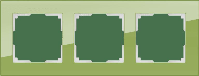 Рамка на 3 поста (фисташковый) WL01-Frame-03