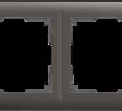 Рамка на 4 поста (серо-коричневый) WL14-Frame-04