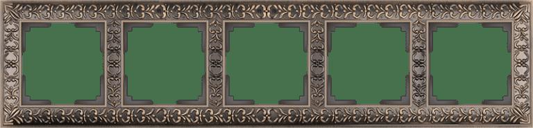 Рамка на 5 постов  (бронза) WL07-Frame-05