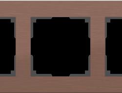 Рамка на 5 постов (коричневый алюминий) WL11-Frame-05