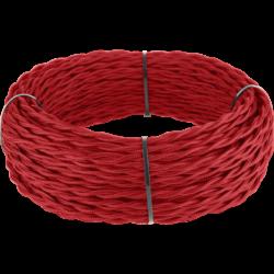 Ретро кабель витой  3х2,5  (красный) 50 м под заказ Ретро кабель витой  3х2,5  (красный)