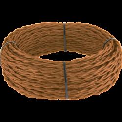 Ретро кабель витой  3х2,5 (медный) 50 м под заказ Ретро кабель витой  3х2,5  (медный)