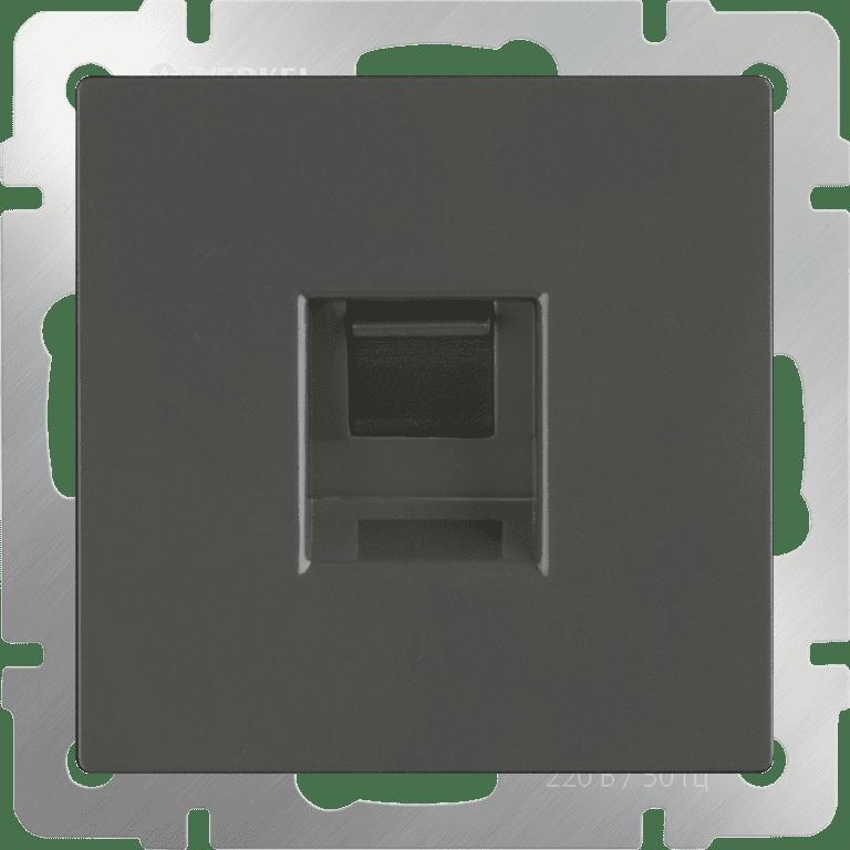 Розетка Ethernet RJ-45 (серо-коричневый) WL07-RJ-45