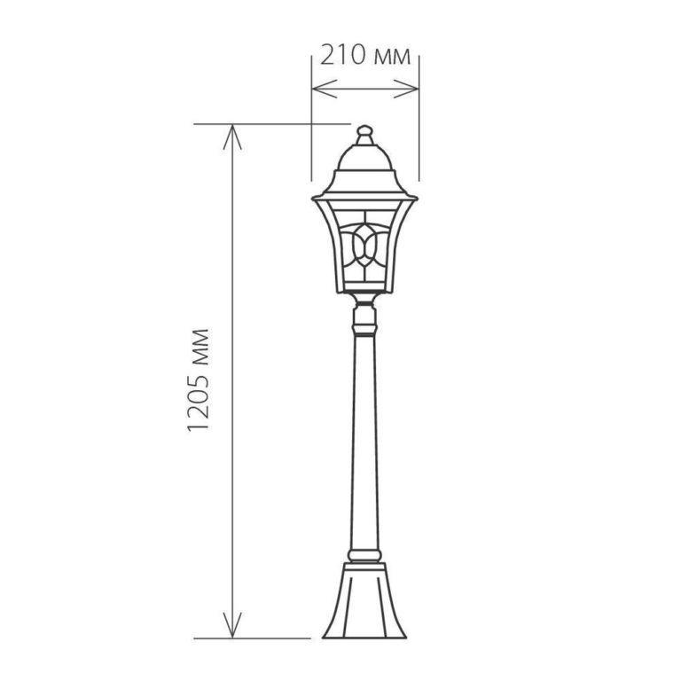 Уличный светильник на столбе IP44 Altair F черное золото